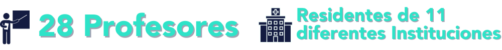 Residentes en 11 diferentes Instituciones(1)